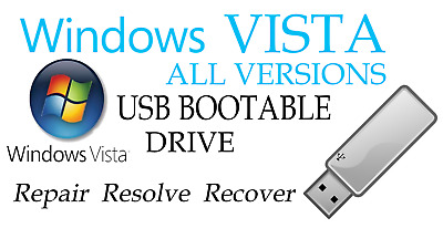 WINDOWS VISTA ALL VERSIONS__64GB__Business Ultimate Pro Home Basic__USB 32/64Bit