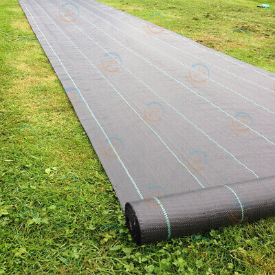 2m 3m 4m heavy duty woven weed control fabric ground cover garden mulch