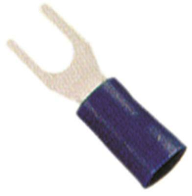 Fork Terminals Blue Size M3, 5 Insulated Cu PVC Max. Temperature 75°C