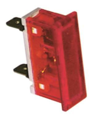 Signal Lamp Red 230v Dimension 34x10mm Connection Flat Blade 6,3mm 1w 105°C