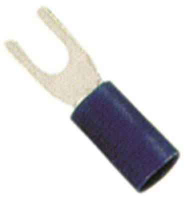 Fork Terminals Blue Size M3 Insulated Cu PVC Max. Temperature 75°C