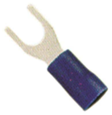 Fork Terminals Blue Size M4 Insulated Cu PVC Max. Temperature 75°C