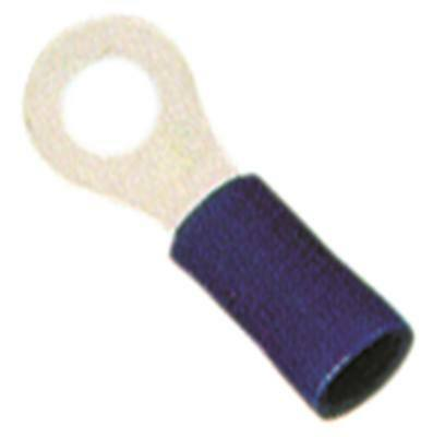 Ring Cable Lug Blue Size M4 Insulated Cu PVC Max. Temperature 75°C