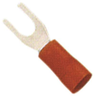 Fork Terminals Red Size M3 Insulated Cu PVC Max. Temperature 75°C