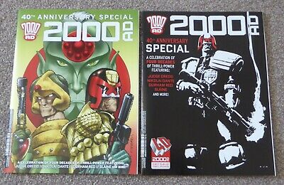 2000AD 40th Anniversary Special (2017) variant covers 1 and 2