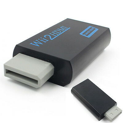 Wii to HDMI Wii2HDMI Full HD FHD 1080P Converter Adapter 3.5mm Audio Output RD