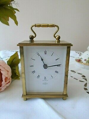 Vintage Heavy Brass Tempora Carriage Clock - Electric Battery - Gwo