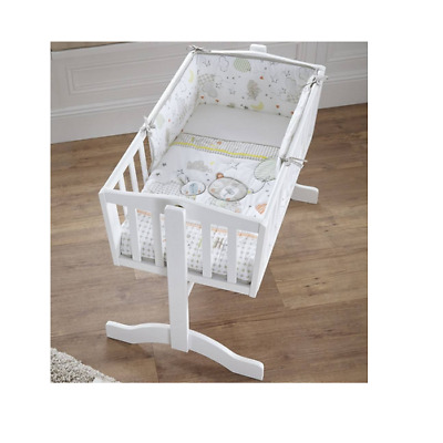 Brand new in pack Clair de lune Sleep tight crib cradle quilt and bumper set