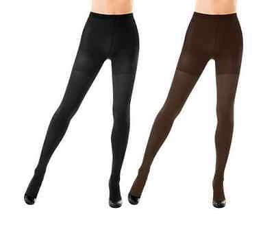 NWT SPANX Reversible High-Waisted Black Brown Shapewear Shaping Tights Womens XS