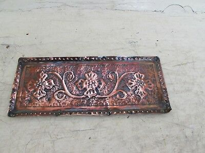Art Nouveau, Arts & Crafts Rectangular Copper Tray, Pen Tray
