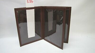 A4 Brown 4 page menu or room information holder, or picture frame(style 584)