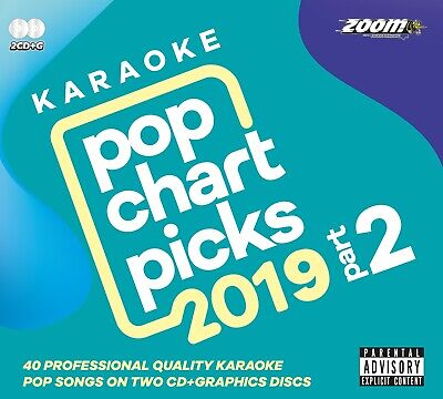 Zoom Karaoke CD+G - Pop Chart Picks 2019 (Part 2) - Double CD+G Disc - 40 Hits