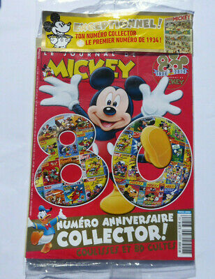 JOURNAL DE MICKEY ANNIVERSAIRE 80 ANS COLLECTOR neuf sous blister