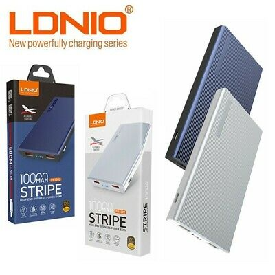 Genuine LDNIO 10000mAh 2 x USB Power Bank Portable Charger External Battery Pack