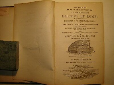 1872 Pinnock's Improved Edition of Dr. Goldsmith's History of Rome