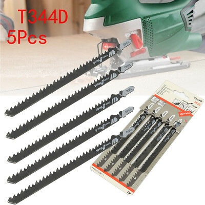 5X Plastic T344D T-shank Saw Blades Wood Plywood Cutting Tools for Jigsaw Hot