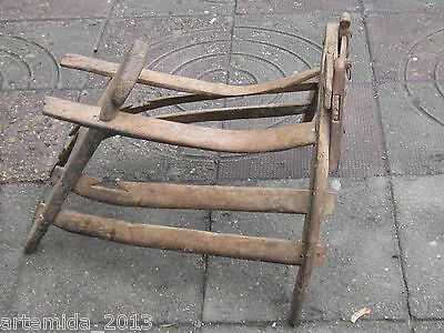 Old Antique Primitive Ottoman Empire Wooden  SADDLE Pack-Saddle from Bolkans