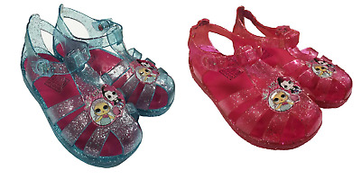 LOL Surprise Girls Glitter Jelly Shoes Beach Sandals Kids Summer Water Footwear