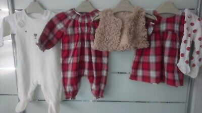 20x ALL NEW 99% NEXT SPRING SUMMER BUNDLE OUTFITS BABY GIRL  0-3 mths 3-6 mths