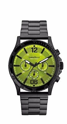 e0e5f81aa45 Caravelle New York Men s 45A107 Chronograph Quartz Green Dial 44mm Watch