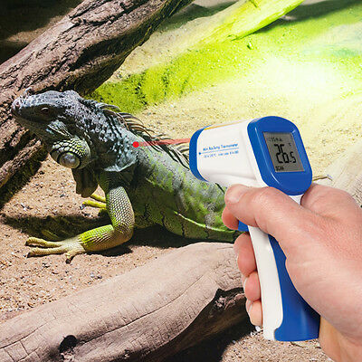 Reptile & Vivarium IR Infrared Non Contact Thermometer with Laser Dot Alignment