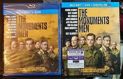 The Monuments Men Blu-Ray & DVD Discs(new)No Dig-w/Slipcover-Clooney-Mast. in 4K