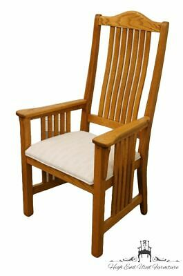 RICHARDSON BROTHERS Solid Oak Mission Style Dining Arm Chair