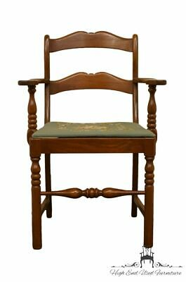 1940's Antique Mahogany Duncan Phyfe Arm Chair w/ Needlepoint Seat