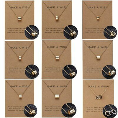 Chic Women Circle Geometrical Gold Chain Clavicle Short Card Necklace Pendant