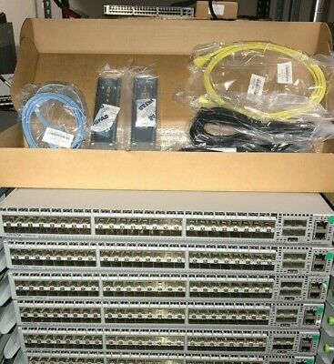 === ARISTA DCS-7050s-52-R == RACK KIT = 2 AC =10GBe SFP+ = TESTED = REVERSE