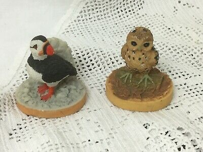 TETLEY TEA COLLECTABLE PUFFIN & OWL 1997 advertising/drinks/ornaments