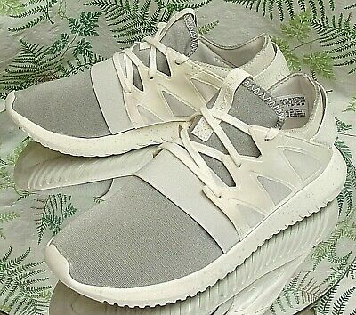 san francisco 91fdb cad0d Adidas Tubular Viral White Sneakers Walking Running Work Shoes Us Womens Sz  7
