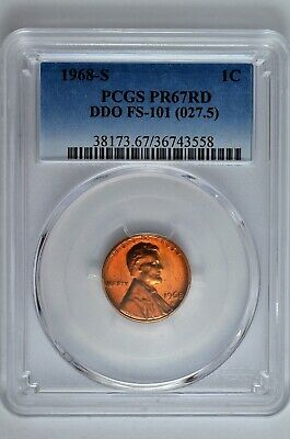 1968 S Proof 1C Lincoln Memorial PCGS PR67RD DDO FS-101