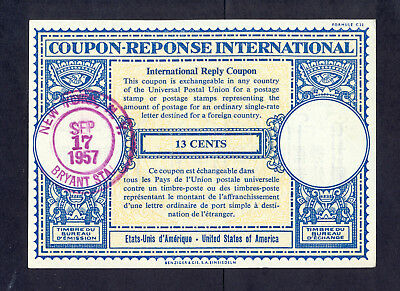 8682 USA,1957,Used coupon-reponse international in NewYork in very good conditio