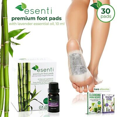 Esenti Detox Foot Pads & Lavender Essential Oil - Improve Sleep & Reduce Stress