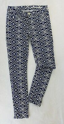 fd8b7ce0 ZARA WOMAN Slim Fit SKINNY Jeans ankle zippers black white blue 25 mid new