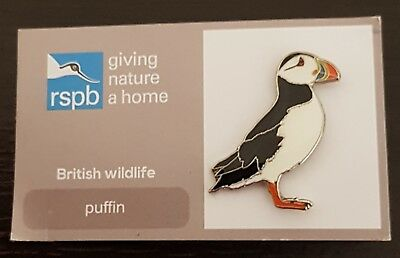 "Brand New ""RSPB Puffin"" Pin Badge - (SAME DAY DISPATCH !)"