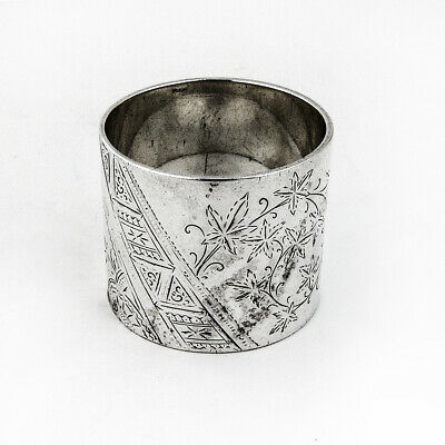 Aesthetic Napkin Ring Sterling Silver 1886