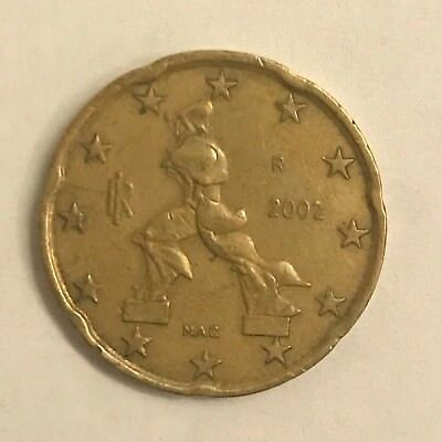 Pièce Euro - 20 centimes Italie - 2002 - 20 cents coin - Italy