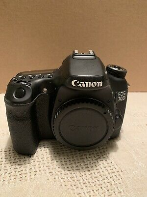 Canon EOS 70D 20.2MP Digital SLR Camera - Black (Body Only) (low shutter count)