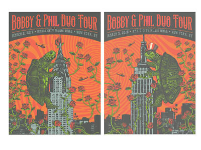 Bobby & Phil Duo Tour R.C.M.H. New York March 2nd & 3rd 2018 Show Posters