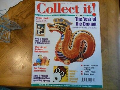 Collect It Mag 33 Crown Derby Goebel Porcelain Snoopy Pokemon Tv Sets Beanies