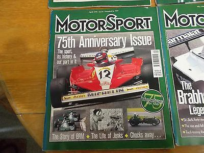 3 Consecutive Issues Of Motorsport Magazine 1999 Apr - June Inclusive Excellent