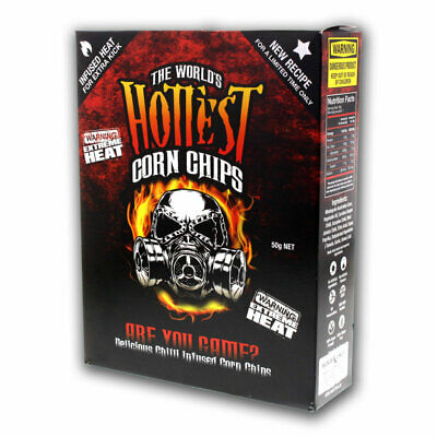 World's Hottest Corn Chips Carolina Reaper & Scorpion Extreme Chilli Seed Bank