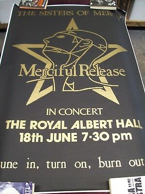 "THE SISTERS OF MERCY ""IN CONCERT ROYAL ALBERT HALL"" SUBWAY POSTER 40 1/2"" x 61"""