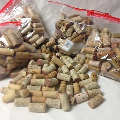 490 + Wine Corks Used All Natural No Synthetic Lots Of Variety Great For Crafts