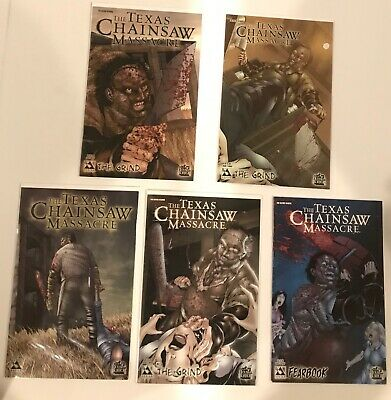 Lot Of 5 Texas Chain Saw Massacre The Grind #1-3 Set + Specials (Wrap) Avatar