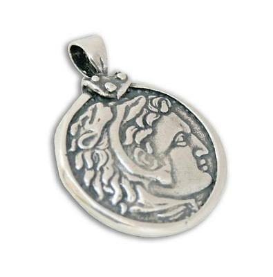 Alexander the Great Tetradrachm ~ Sterling Silver Coin Pendant