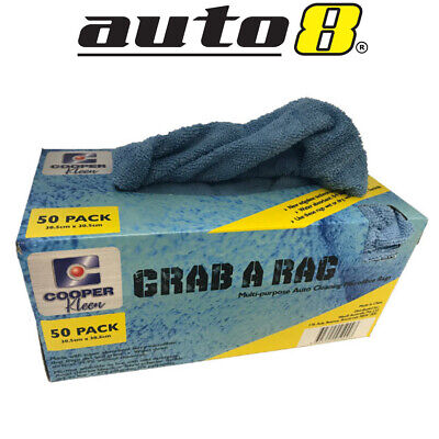 Grab A Rag Industrial Strength Microfibre Cleaning Rags Wet Dry 50 Pack Washable