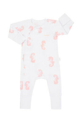Bonds Newbies Coverall - Petite Seahorse (3-6 Months)